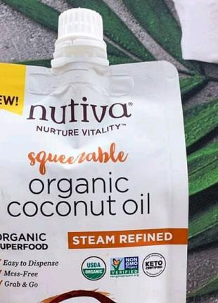 Nutiva coconut oil Органическое кокосовое масло  США  355 мл