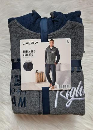 Livergy l 52/54  флисовый мужской спортивный костюм теплый дом...
