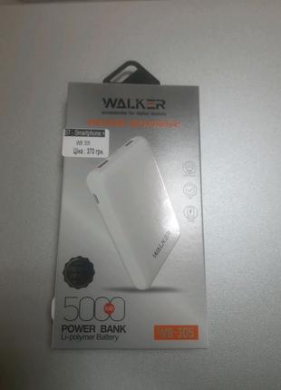 Power Bank Walker WB-305 5000mAh Li-Pol 2xUSB 1xUSB Type-C 2.1A W