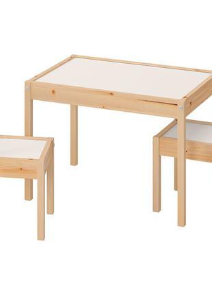 ЛАТТ детский стол+ 2 стула (комплект)
