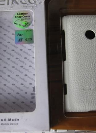 Чехол Melkco Leather Snap Cover Nokia Lumia 520-белый