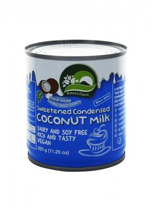 Кокосовое сгущенное молоко веганское Nature's Charm 320 г