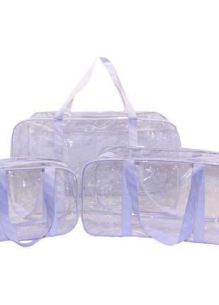 Набор из 3 прозрачных сумок в роддом EcoNova Joy Сумки в роддом