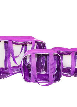 Набор из 3 сумок в роддом Премиум Плюс сиреневый Сумки в роддом