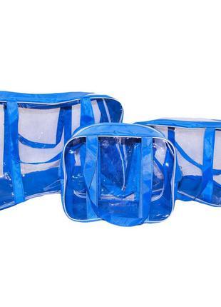 Набор из 3 сумок в роддом Премиум Плюс голубой Сумки в роддом