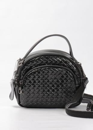 Красивая кожаная сумка плетение