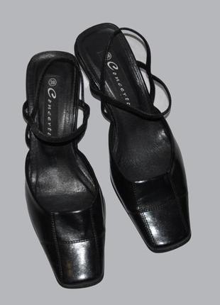 Черные кожаные туфли concerto