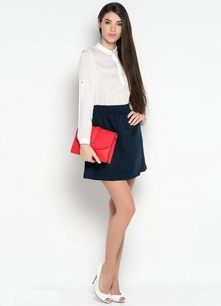 Платье офисное базовое деловое белая рубашка юбка форма дресс ...