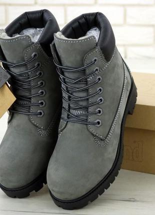 👢❄ женские ботинки зимние timberland 6-inch classic premium (а...