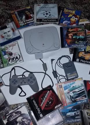 Приставка чипованная Sony PS One Slim + 30 ИГР PS1 Playstation 1