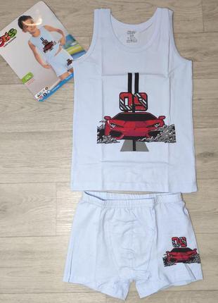 Комплект нижнего белья для мальчика, майка, трусы. турция. (ар...