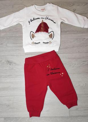 Новогодний, утепленный костюм для малыша. турция. (арт. 20963)