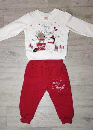 Теплый новогодний костюм для малышей. турция. (арт. 20930)