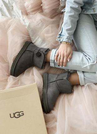 Ugg mini bailey button grey 🆕 шикарные женские угги 🆕 купить н...