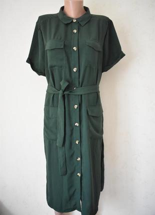 Стильное платье-рубашка большого размера