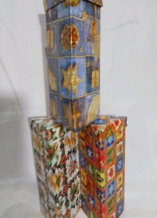 Коробка подарочная, картонная *Новогодняя* 11/11/25  см. N -803