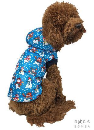 Одежда для собак Жилет Снеговики электрик
