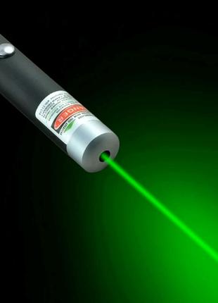Лазерная указка 5мВт зеленая  мощная лазер дальность 1000м