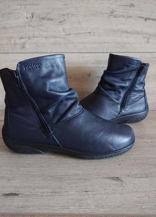 Ботинки хоттер hotter whisper 41 р 26 см кожа широкая стопа