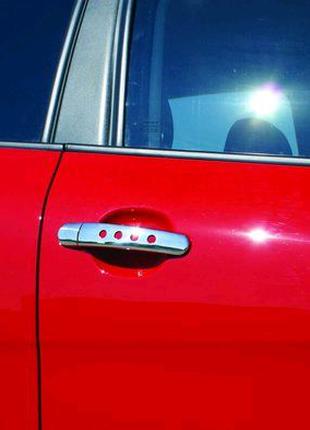 Накладки на ручки з дірочками (4 шт, нерж.) Skoda Octavia Tour A4