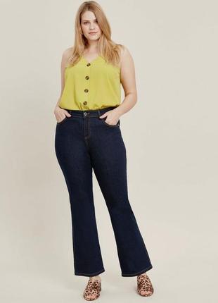 Стрейчевые джинсы высокий рост цвета индиго 24/58-60 размера