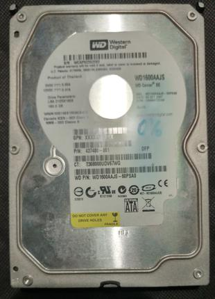 Рабочий жесткий диск Western Digital WD1600AAJS на 160Гб SATA II