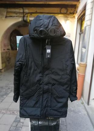 Куртка зимняя парка пуховик c.p.company с линзами
