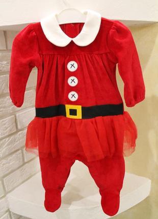Новогодний карнавальный костюм бархатный на девочку,мальчика 0...