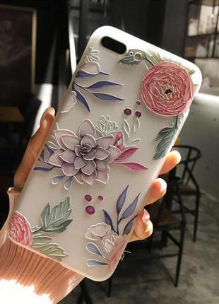 Новый силиконовый чехол на айфон 6/6S