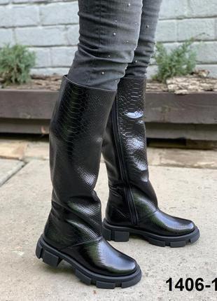 Сапоги высокие кожаные ❄️
