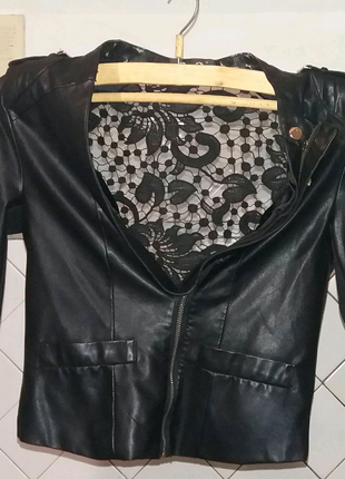Женская кий кожаный пиджак