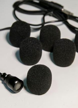 Ветрозащита на петличный микрофон