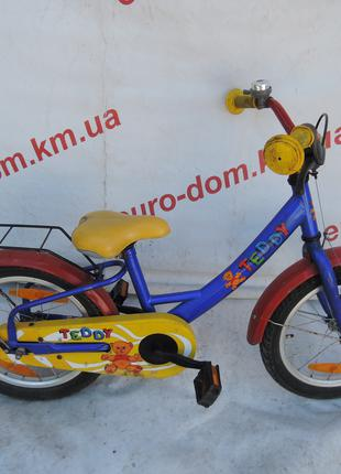 Детский велосипед Teddy 16 колеса. Простой классической велосипед
