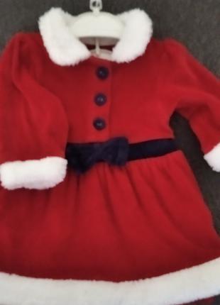 Новогодний костюм на девочку 3-6 м