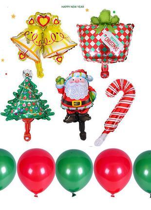 Набор праздничных шариков к Новому году