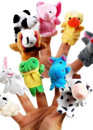 10x Мягкая игрушка на палец, животные, кукольный театр 286560