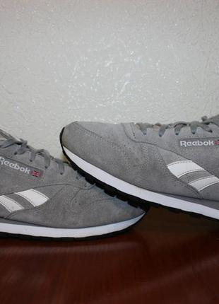 Кроссовки reebok classic leather suede solid