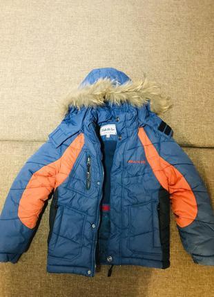Зимняя куртка холофайбер на 122 см