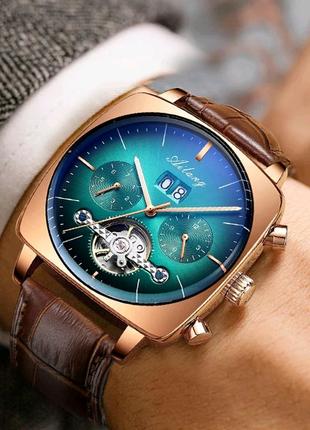 Мужские часы с автоподзаводом AILANG, новинка 2020, хронограф