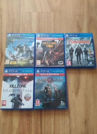 Ігри, диски на ps4 God of war, horizon, killzone, infamous