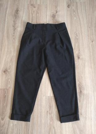 Nuna lie стильные укороченные брюки с манжетами