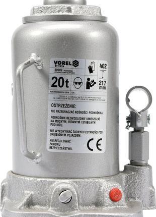Домкрат гидравлический бутылочный VOREL 20 т 217-402 мм
