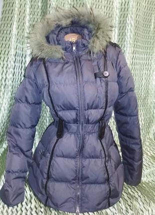 Пуховик натуральный, зимняя куртка, р.48-50