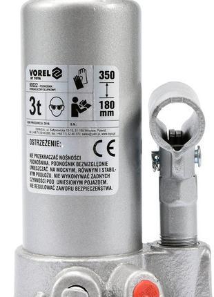 Домкрат гидравлический бутылочный VOREL 3 т 180-350 мм