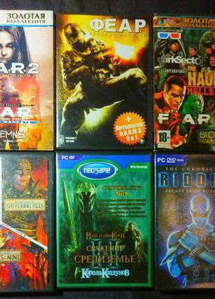 Игры DOOM FEAR RIDDICK Bioshock Oblivion Lord of the rings диски