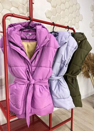 Жилетка, Теплая жилетка, Куртка осень, Женская одежда