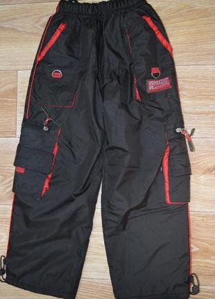 Зимние теплые штаны на флисе