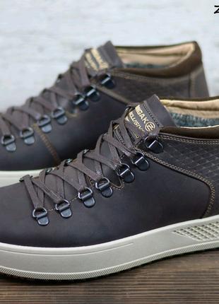 Мужские кожаные зимние ботинки Zangak, мужские ботинки
