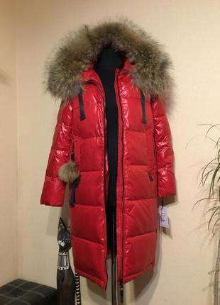 🔥шикарное🔥 vip куртка пуховик дутое зимнее пальто с мехом зима