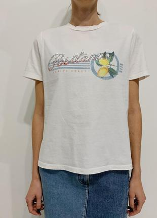 Белая футболка с принтом лимоны 🍋